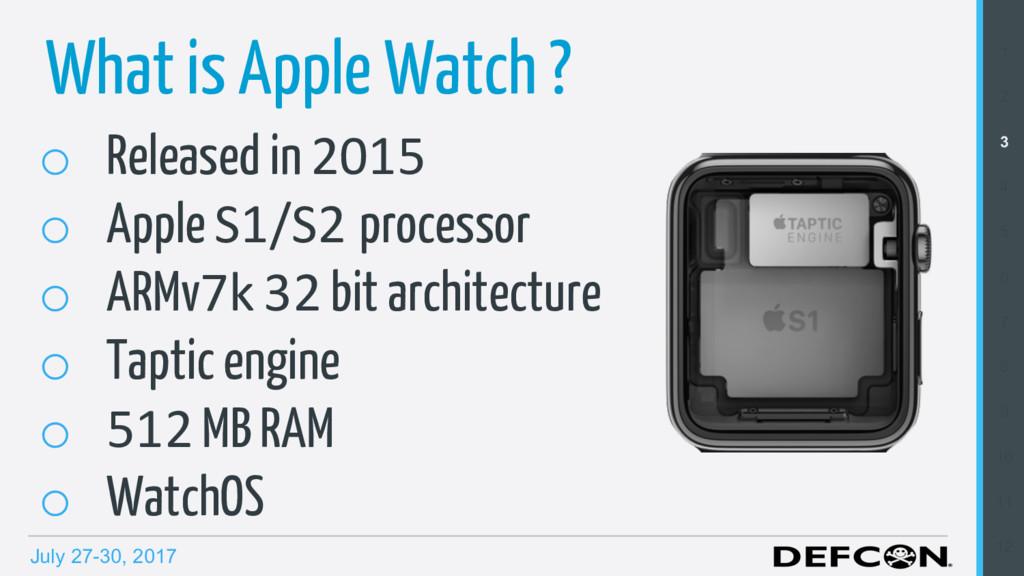 July 27-30, 2017 o Released in 2015 o Apple S...