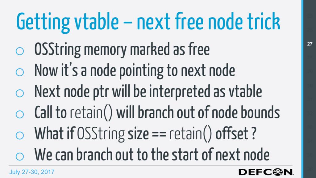 July 27-30, 2017 o OSString memory marked as f...