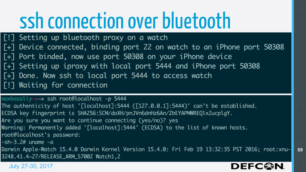 July 27-30, 2017 ssh connection over bluetooth ...