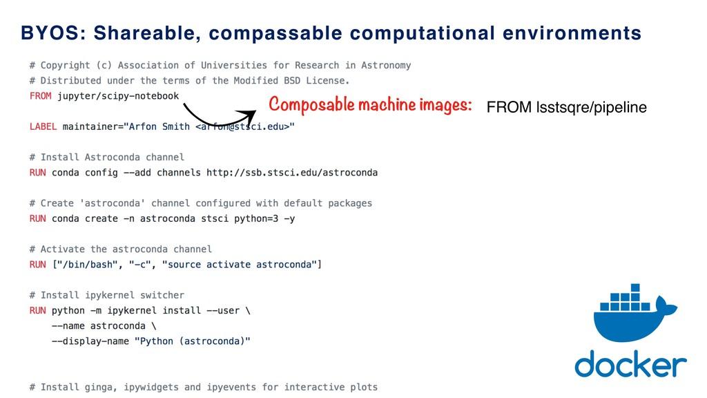 䢀 Composable machine images: FROM lsstsqre/pipe...