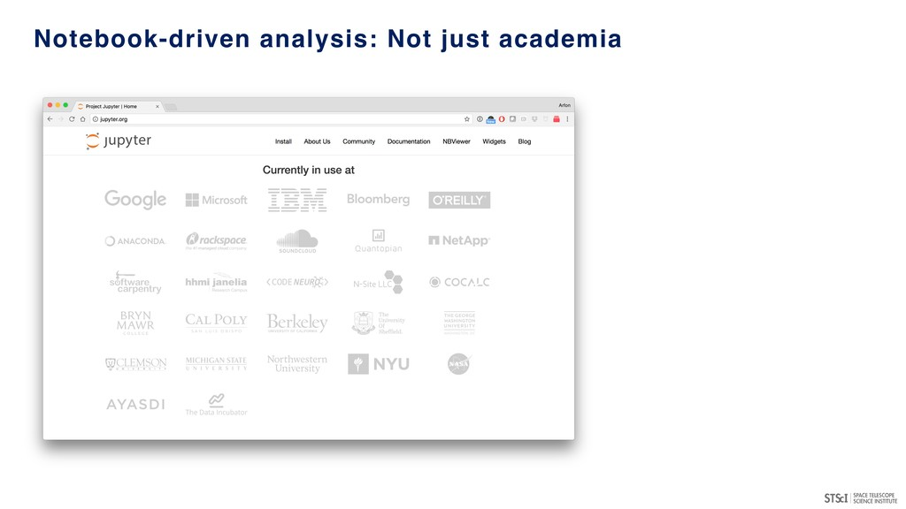 Notebook-driven analysis: Not just academia