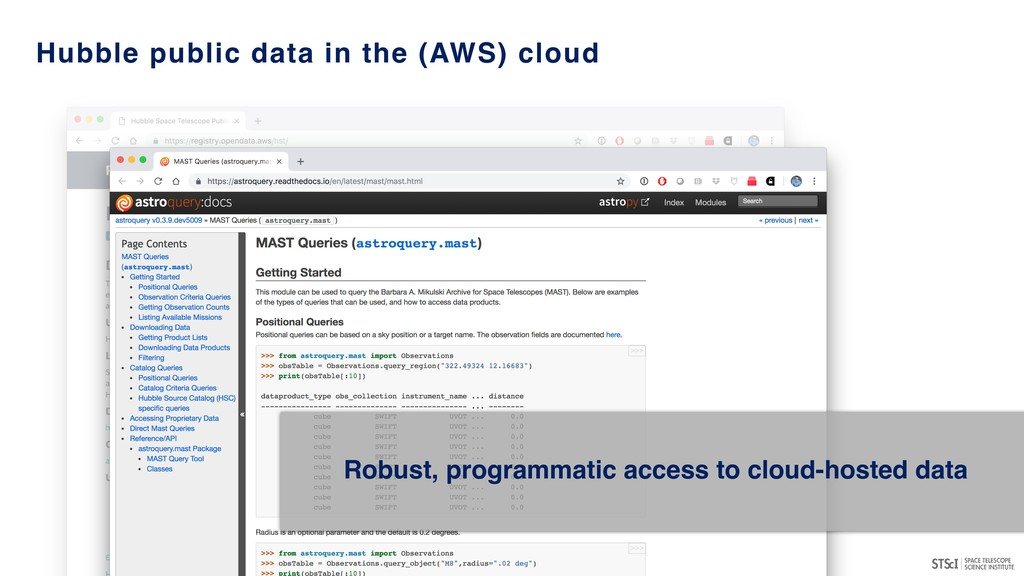 Robust, programmatic access to cloud-hosted dat...