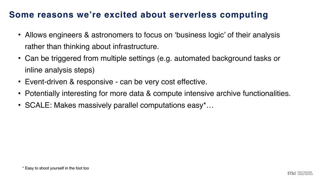Some reasons we're excited about serverless com...