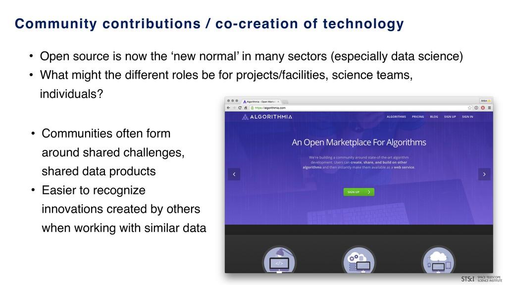 Community contributions / co-creation of techno...