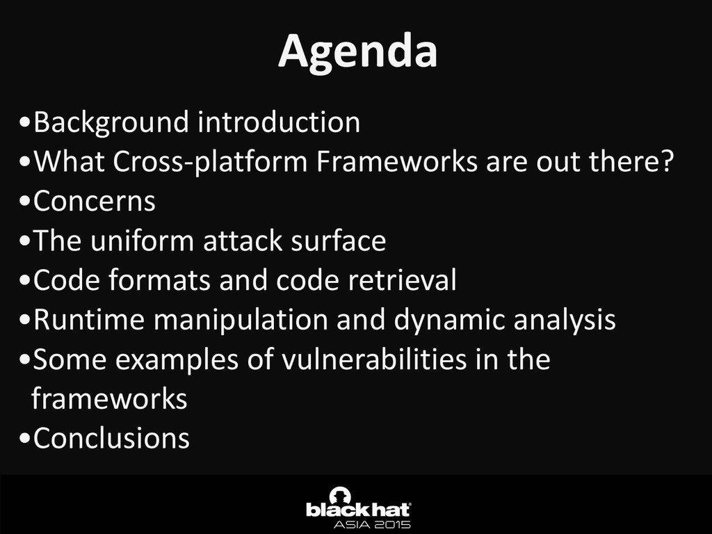 Agenda •Background	