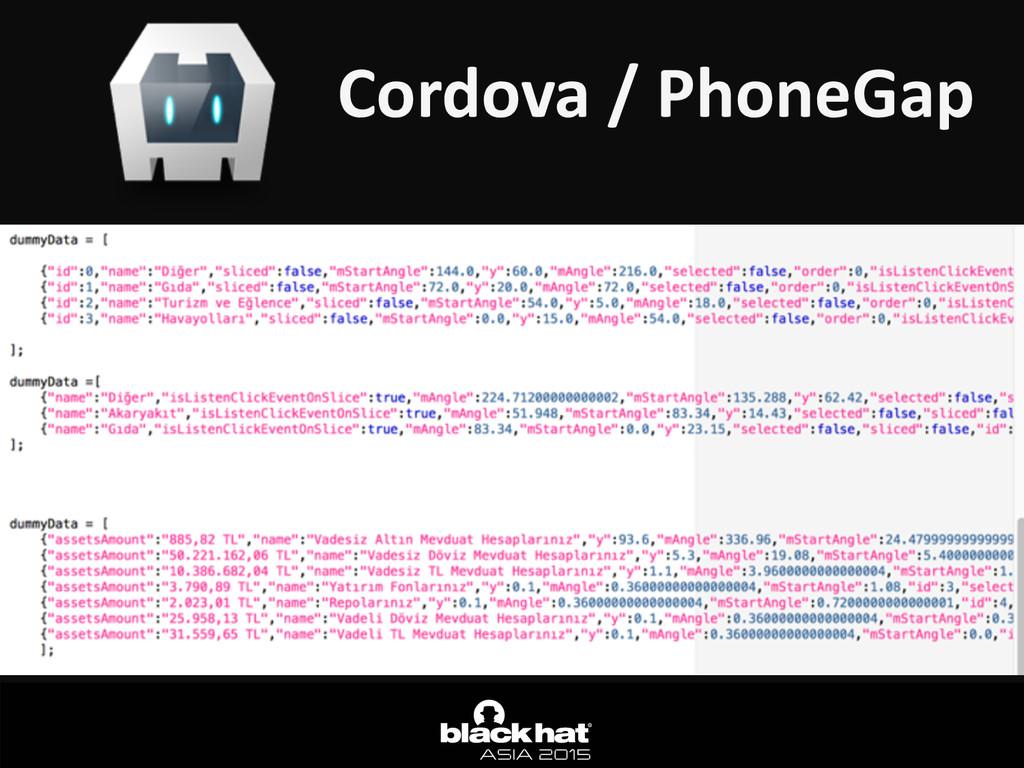 Cordova / PhoneGap