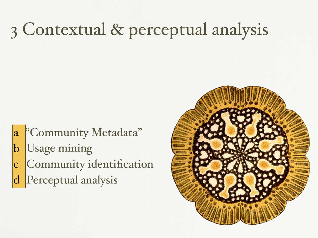 "3 Contextual & perceptual analysis a ""Community..."