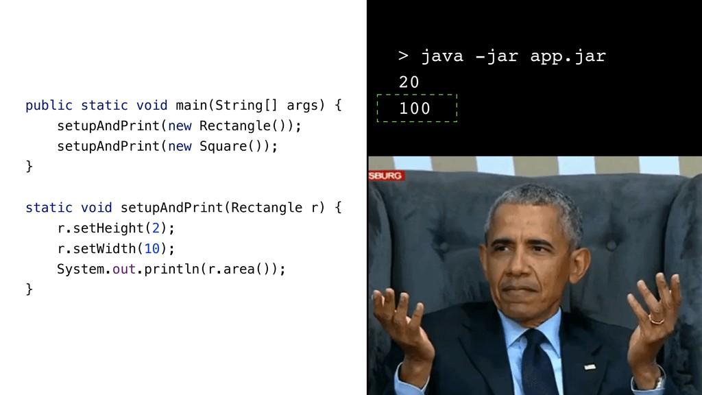 public static void main(String[] args) { setupA...