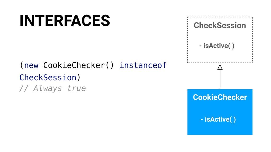 (new CookieChecker() instanceof CheckSession) /...