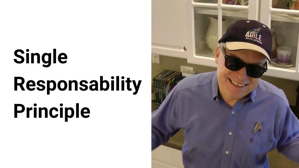 Single Responsability Principle