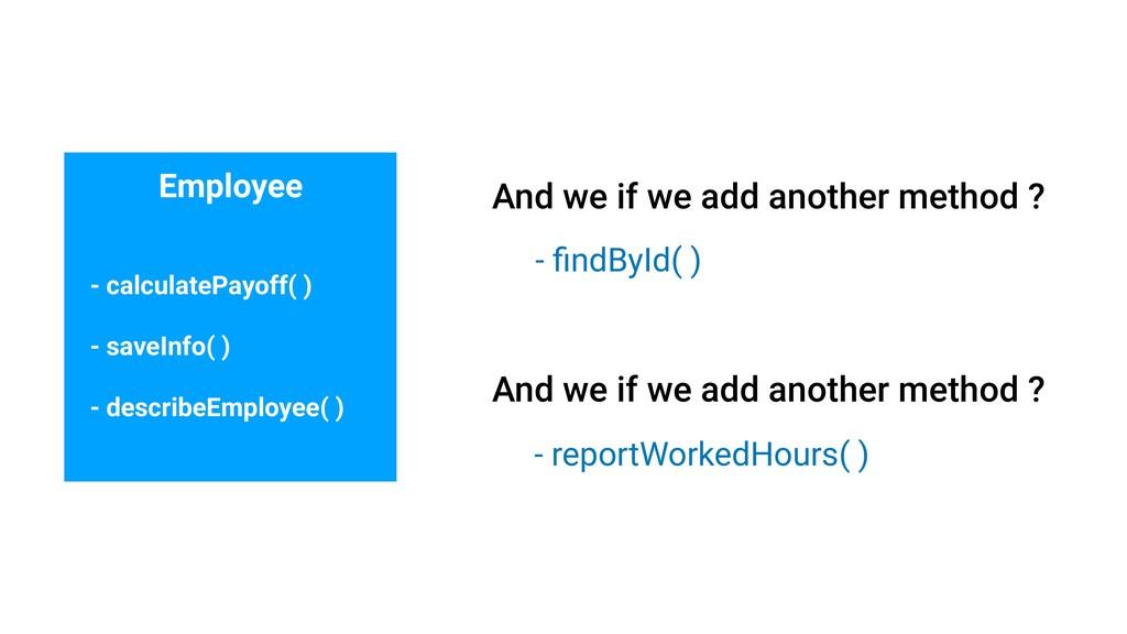 Employee - calculatePayoff( ) - saveInfo( ) - d...