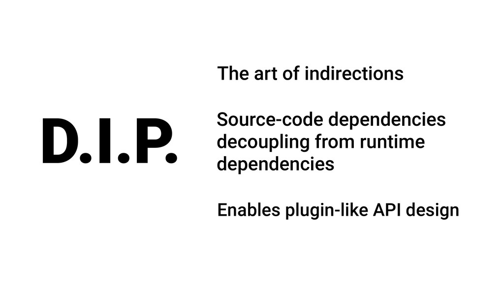 D.I.P. Source-code dependencies decoupling from...
