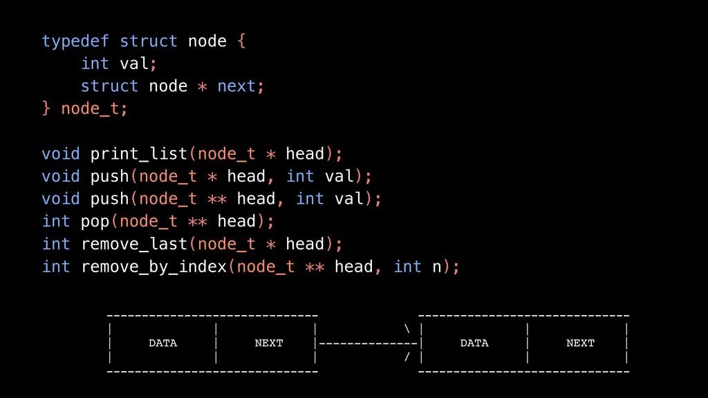 typedef struct node { int val; struct node * ne...