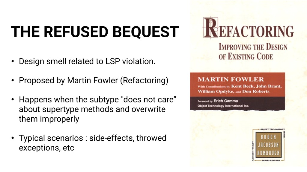 THE REFUSED BEQUEST • Design smell related to L...