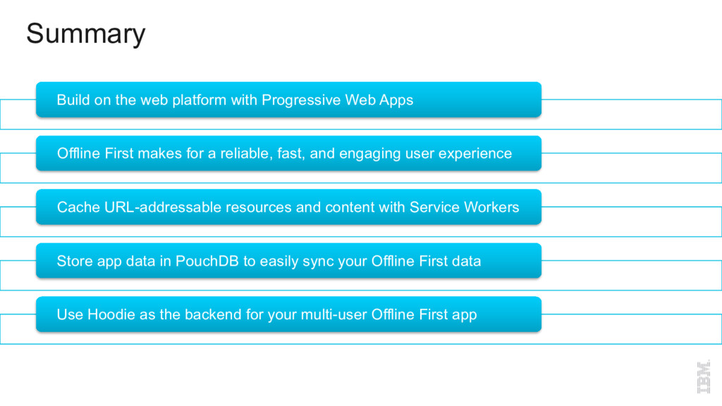 Summary Build on the web platform with Progress...