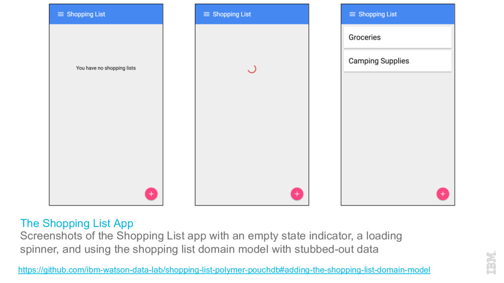 The Shopping List App Screenshots of the Shoppi...