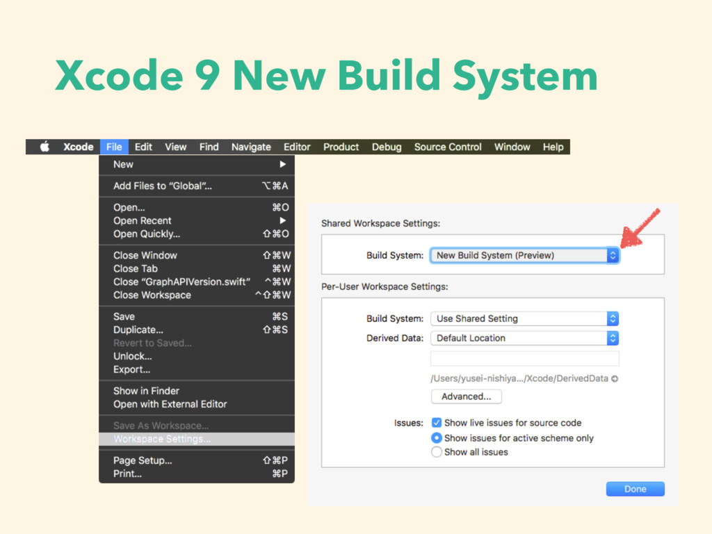 Xcode 9 New Build System
