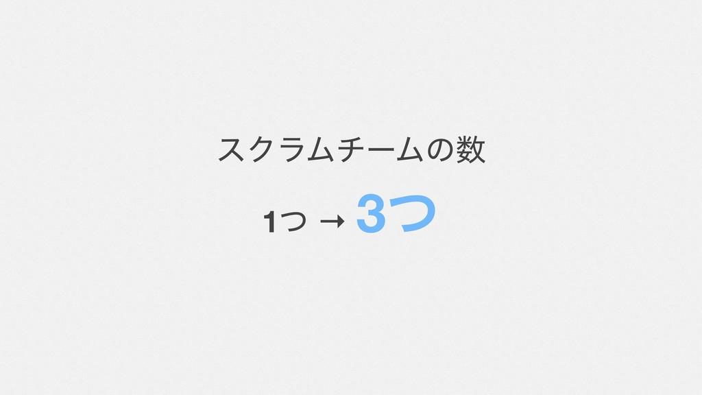 εΫϥϜνʔϜͷ 1ͭ → 3ͭ