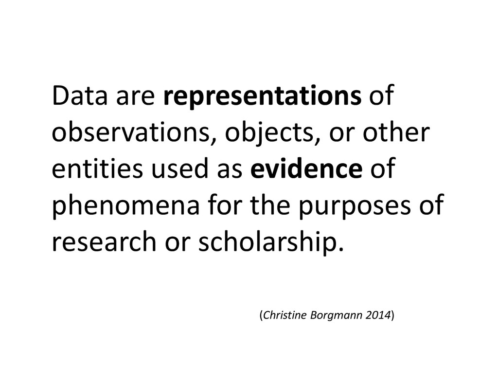 Data are representations of observations, objec...
