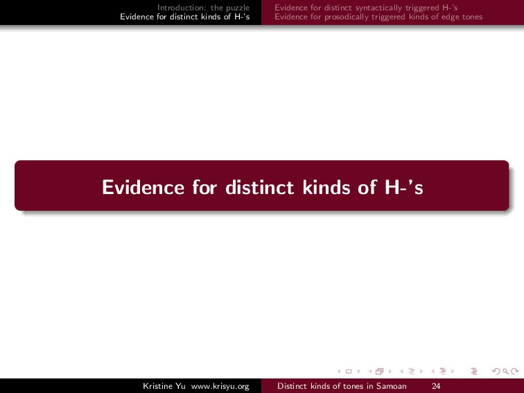 Introduction: the puzzle Evidence for distinct ...