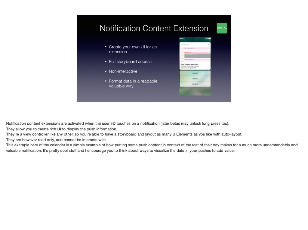 Notification Content Extension • Create your own...