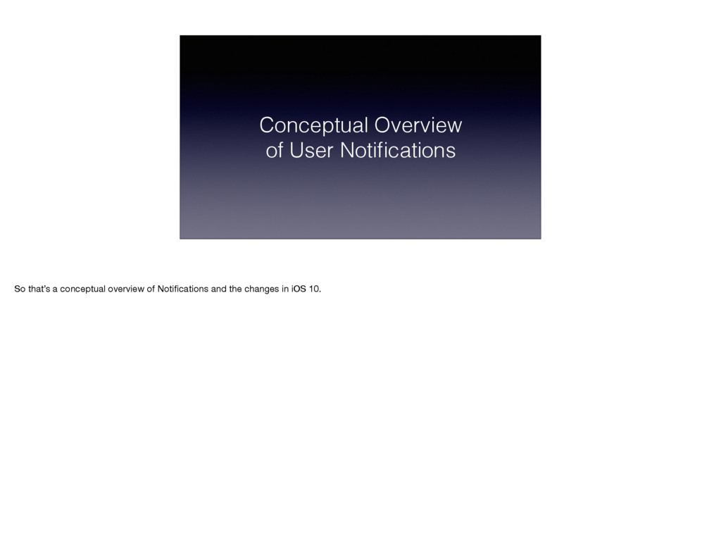 Conceptual Overview of User Notifications So tha...