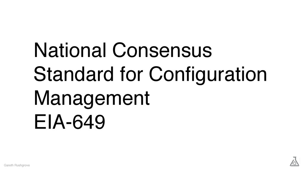 National Consensus Standard for Configuration Ma...