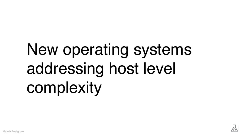 New operating systems addressing host level com...