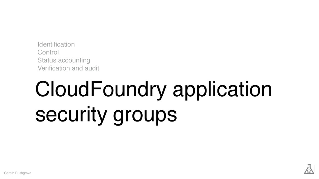 CloudFoundry application security groups Gareth...