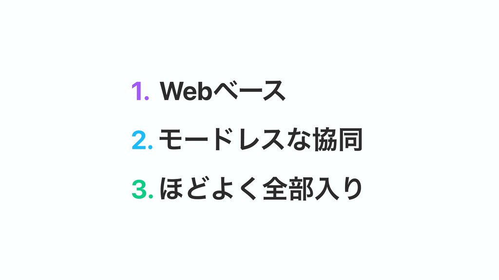 3. ΄ͲΑ͘શ෦ೖΓ 2. ϞʔυϨεͳڠಉ 1. Webϕʔε