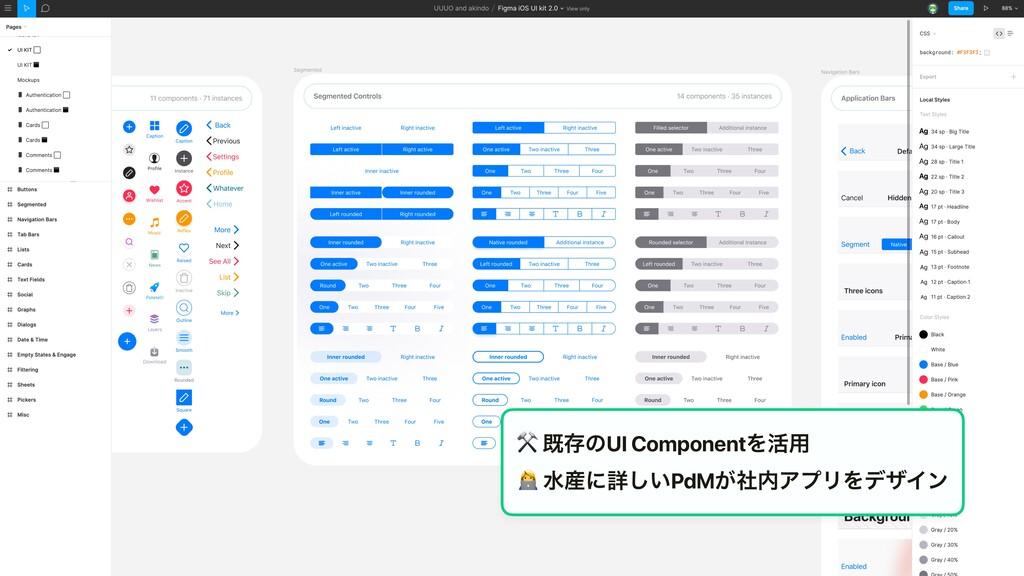 ⚒ طଘͷUI ComponentΛ׆༻ 2 ਫʹৄ͍͠PdM͕ࣾΞϓϦΛσβΠϯ