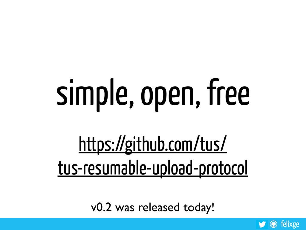 felixge simple, open, free https://github.com/t...