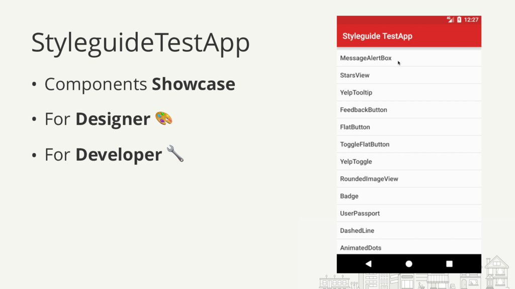 StyleguideTestApp • Components Showcase • For D...
