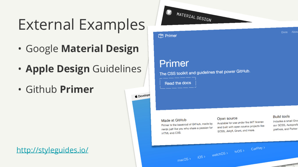 External Examples • Google Material Design • Ap...