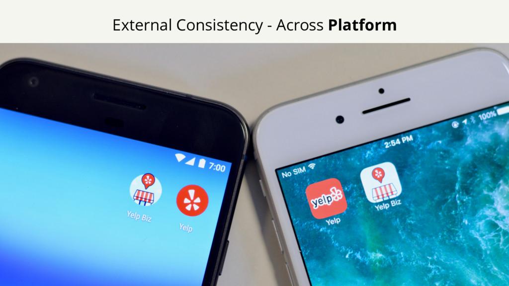 External Consistency - Across Platform