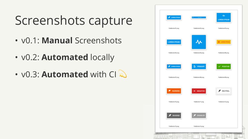 Screenshots capture • v0.1: Manual Screenshots ...