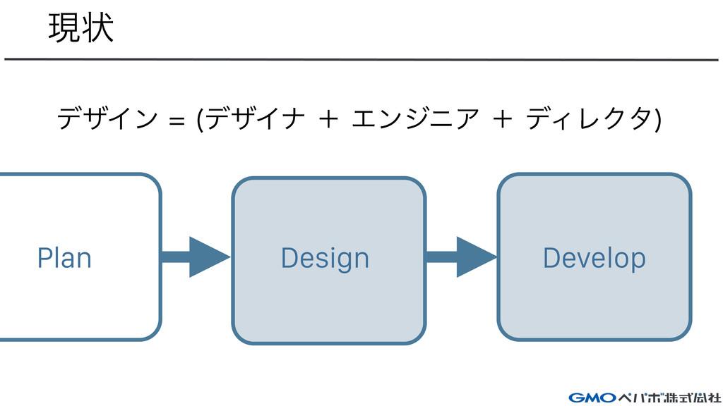 ݱঢ় Design Develop Plan σβΠϯ σβΠφʴΤϯδχΞʴσ...