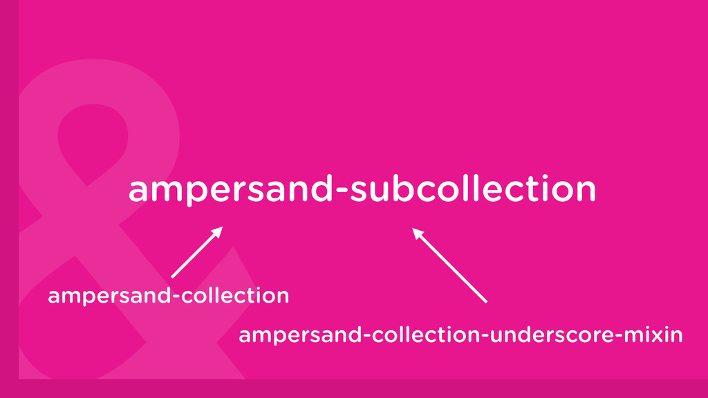 ampersand-subcollection ampersand-collection am...