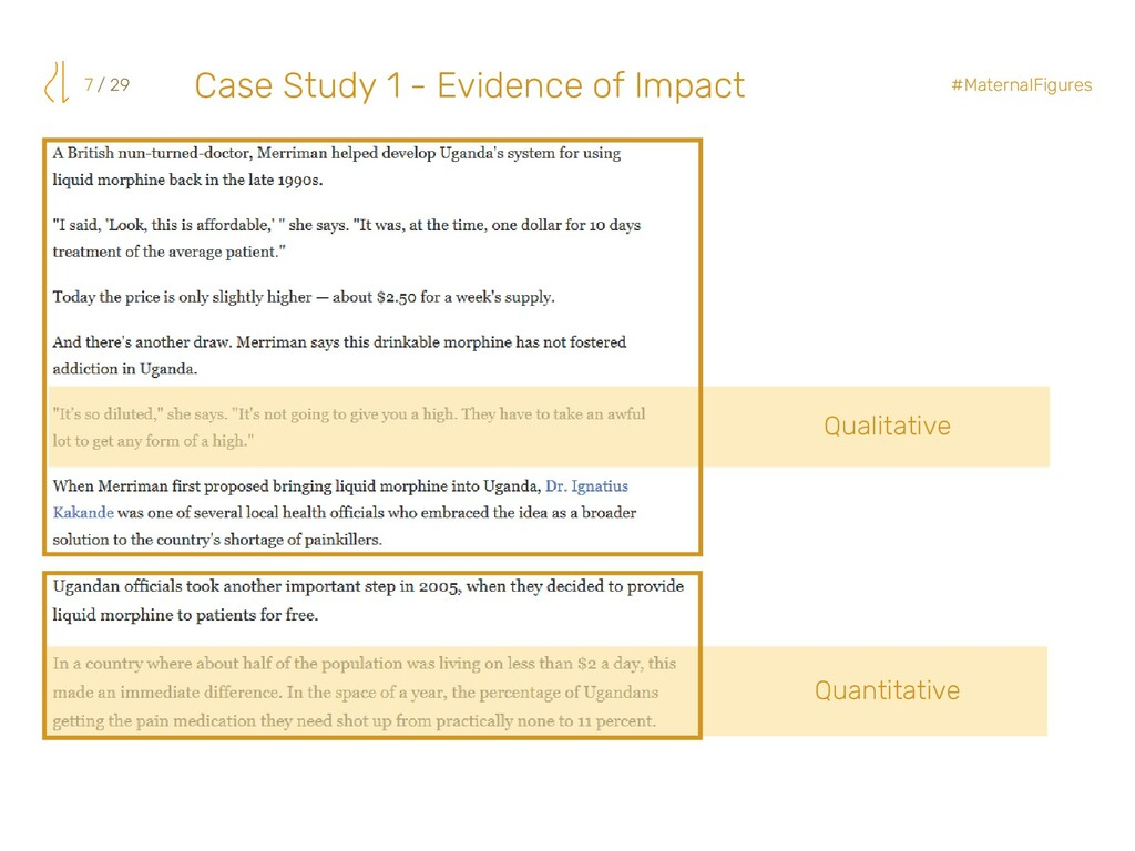 7 / 29 #MaternalFigures Qualitative Case Study ...