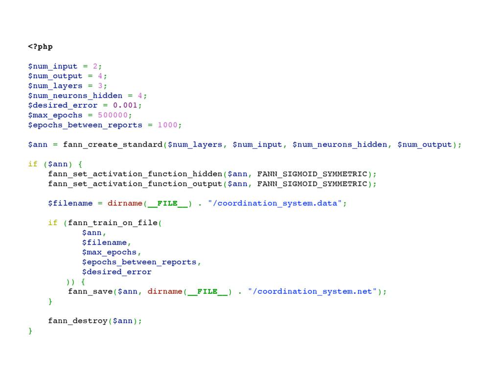 <?php $num_input = 2; $num_output = 4; $num_lay...