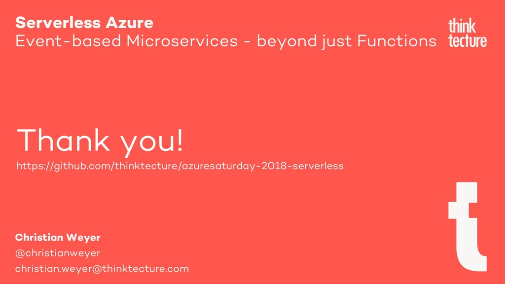 Serverless Azure Event-based Microservices - be...