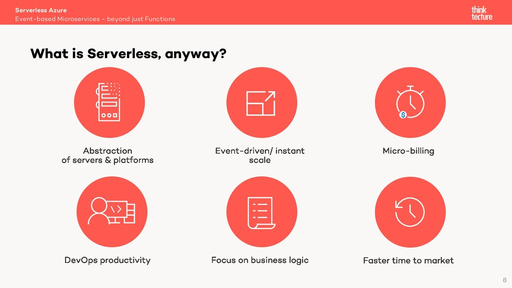 8 What is Serverless, anyway? Event-based Micro...