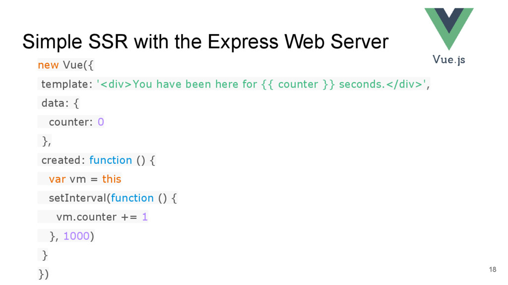 Simple SSR with the Express Web Server 18 new V...