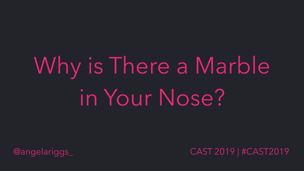 @angelariggs_ CAST 2019 | #CAST2019 Why is Ther...