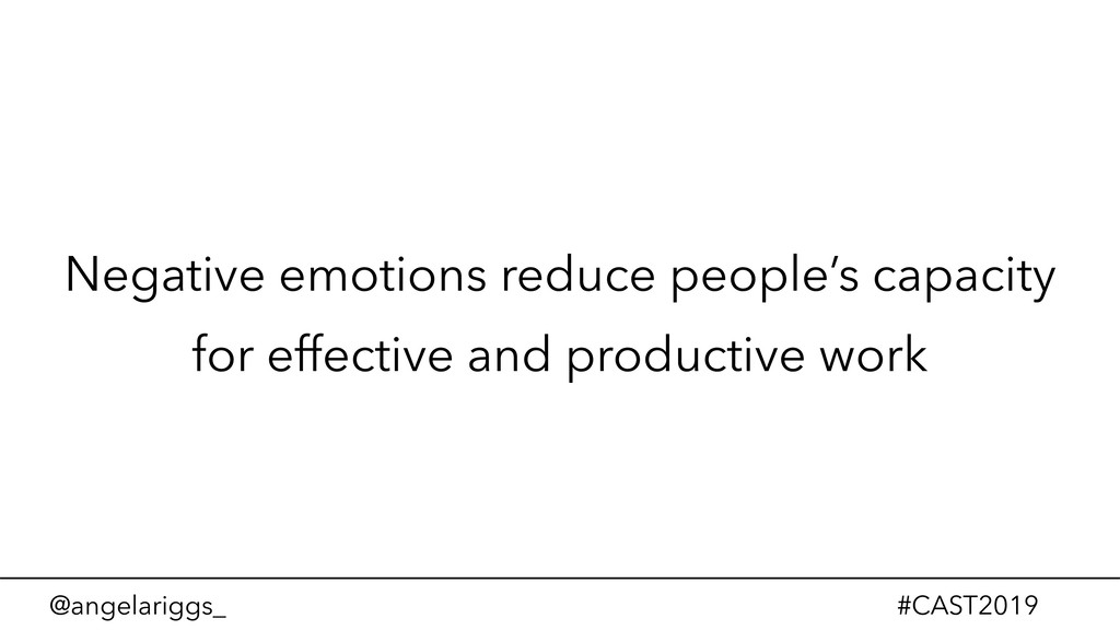 @angelariggs_ #CAST2019 Negative emotions reduc...