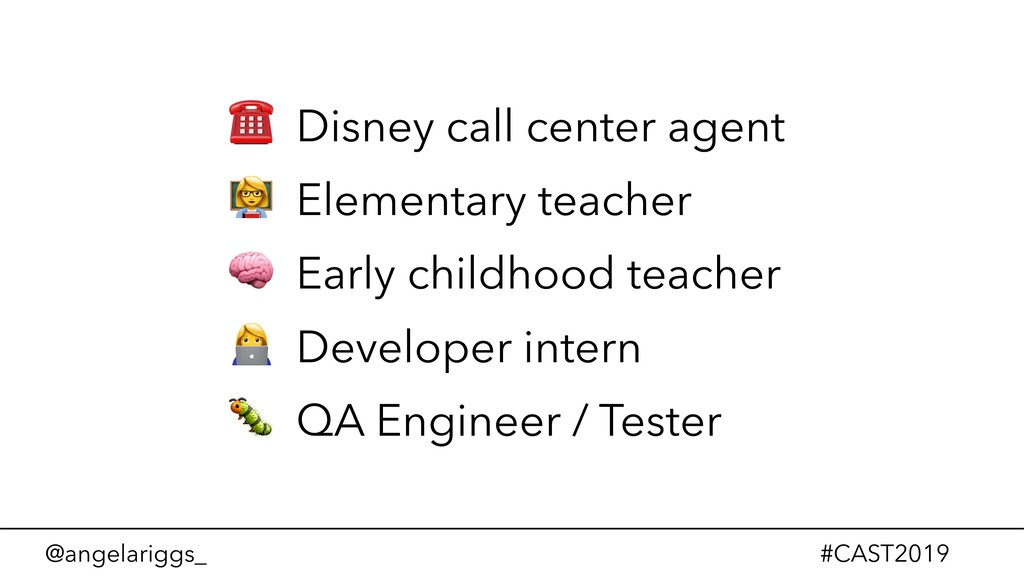 @angelariggs_ #CAST2019 ☎ Disney call center ag...
