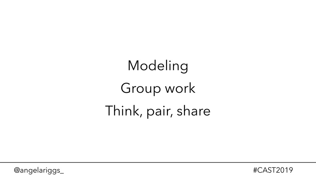 @angelariggs_ #CAST2019 Modeling Group work Thi...