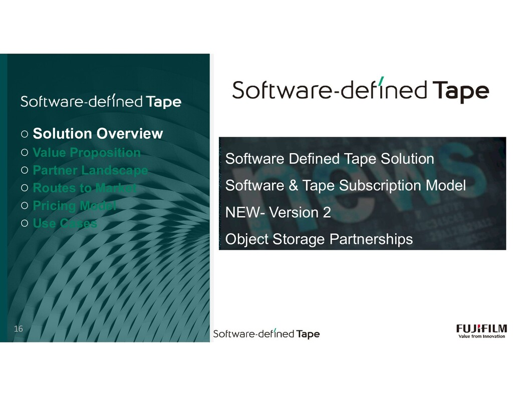 Software Defined Tape Solution Software & Tape ...