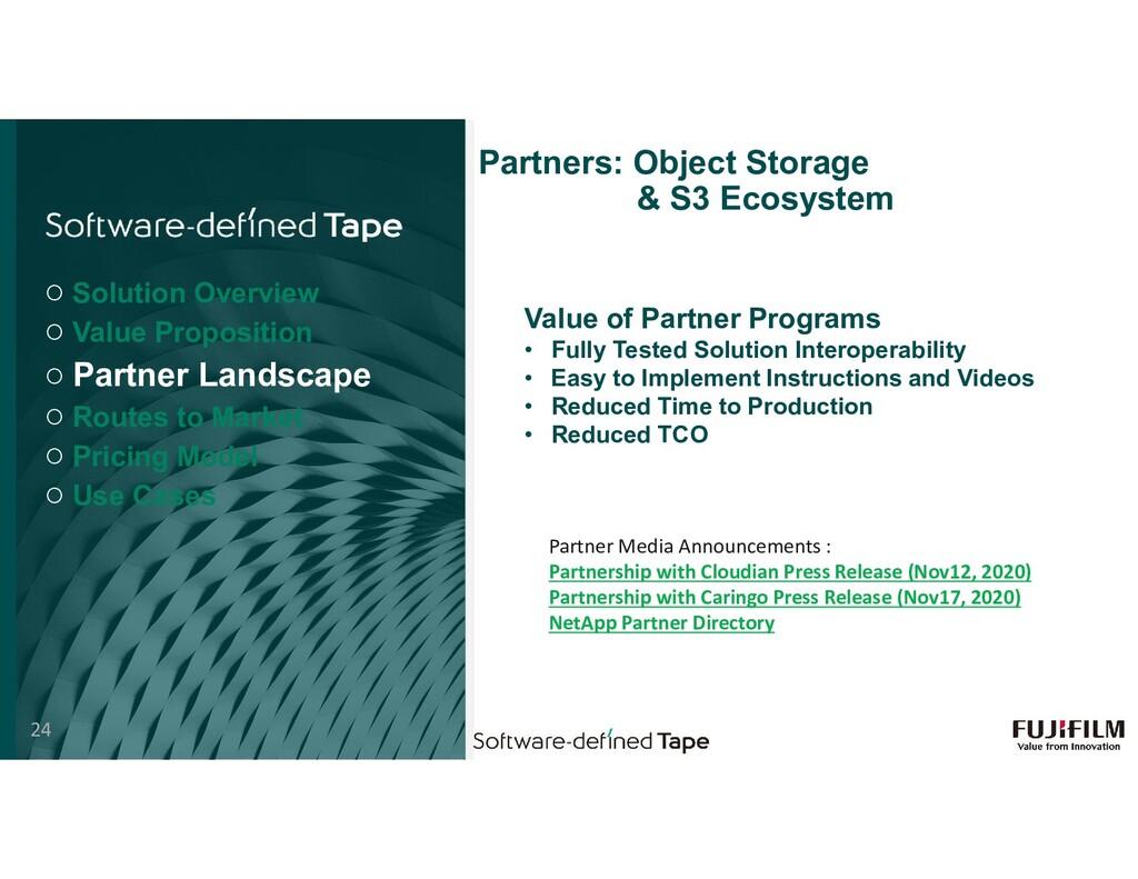 Partners: Object Storage & S3 Ecosystem Value o...