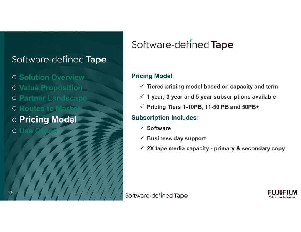 Pricing Model  Tiered pricing model based on c...
